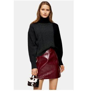 TOPSHOP Knitted Crop Turtleneck Sweater